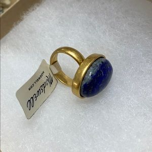 Madewell Blue Stone Gold Color Ring